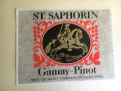 1251  - Suisse Vaud   St-Saphorin Gamay-Pinot - Etiquettes