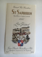 1254  - Suisse Vaud   St-Saphorin Les Fosses 1997 - Etiquettes