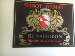 1259  - Suisse Vaud   St-Saphorin  Pinot-Gamay Réserve De La Commune - Etiquettes