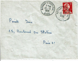 Aube : Rosnay L'Hôpital, Cachet B7 13.05.1959 Sur Env. Affranchie 1011C - Manual Postmarks