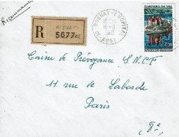 Aube : Rosnay L´Hôpital, Cachet B9 10.06.1968 Sur Env. LR Affranchie 1506 - Manual Postmarks