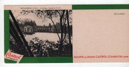 Juil16    75673     Buvard    Huile  Castrol Courbevoie    ,  Vue  Fontainebleau - Hydrocarbures