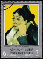 YEMEN - Scott #244D L'Arlésienne By Van Gogh (*) / Used Stamp - Impressionismus