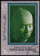 YEMEN - Scott #270A Siamese Sculpture / Used Stamp - Archäologie