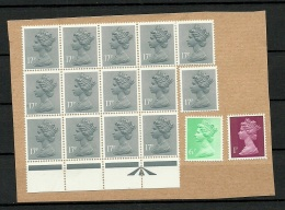 GREAT BRITAIN Unused Stamps On Cover Out Cut - 1952-.... (Elizabeth II)