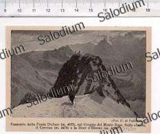 Punta Dufour Monte Rosa Cervino Dent Herens Alpinismo Sport - Immagine Ritagliata Da Pubblicazione Originale D´epoca - Immagine Tagliata