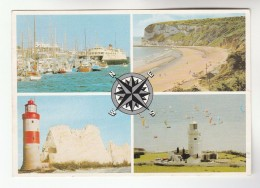Postcard ST CATHERINE's LIGHTHOUSE & THE NEEDLES LIGHTHOUSE Isle Fo Wight Gb Stamps Cover - Lighthouses