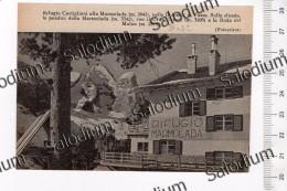 Rifugio Castiglioni Marmolada Dolomiti Fassa - Immagine Ritagliata Da Pubblicazione Originale D´epoca - Immagine Tagliata