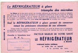 Juil16    75650    Buvard   Le Réfrigérateur à Glace - Buvards, Protège-cahiers Illustrés