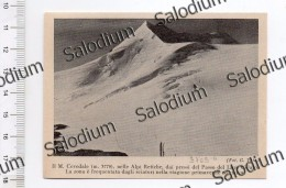 Monte Cevedale Alpi Retiche Passo Lago Gelato Sport Sci Ski  - Immagine Ritagliata Da Pubblicazione Originale D´epoca - Immagine Tagliata
