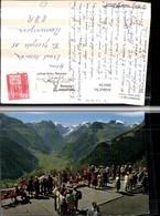 304156,Braunwald Blick Geg. Tödikette Aussichtsterrasse Bergkulisse Kt Glarus - GL Glarus
