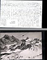 304173,Braunwald Sesselbahn Gumens Bergkulisse Winterbild Kt Glarus - GL Glarus