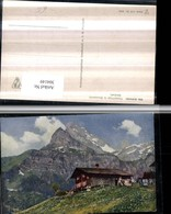 304149,Braunwald Almhütte M. Ortstock Bergkulisse Kt Glarus - GL Glarus