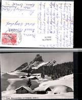 304174,Braunwald Braunwaldalp M. Eckstock Almhütten Bergkulisse Winterbild Kt Glarus - GL Glarus