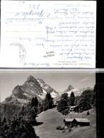 304158,Braunwald Almhütten M. Ortstock U. Hoher Turm Bergkulisse Kt Glarus - GL Glarus