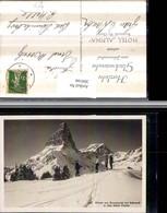 304166,Braunwald Eckstock U. Böser Faulen Bergkulisse Skifahrer Winterbild Kt Glarus - GL Glarus