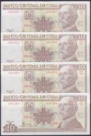 2005-BK-112 CUBA 2005. BANCO NACIONAL. 10$ MAXIMO GOMEZ. UNC. 5 CONSECUTIVE. - Cuba
