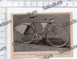 Bicicletta Bici Velo Cambio Impianto Elettrico - Immagine Ritagliata Da Pubblicazione Originale D´epoca - Immagine Tagliata