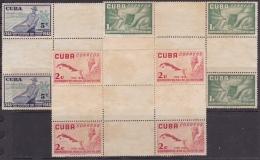 1952-298 CUBA REPUBLICA 1952. Ed.502-04. CENTER OF SHEET CAFE. COFFE. NO GUM. - Cuba