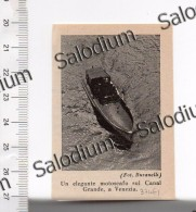 VENEZIA - Barca Boat - Immagine Ritagliata Da Pubblicazione Originale D´epoca - Immagine Tagliata