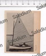 Barca A Vela - Immagine Ritagliata Da Pubblicazione Originale D´epoca - Immagine Tagliata
