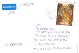 18L: Czech Republic Woman Art Stamp On Cover - Czech Republic