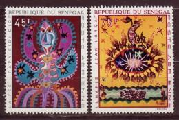 SENEGAL - 1970 - YT N° PA 87 / 88  - **  - Tapisseries - Senegal (1960-...)
