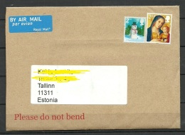 GREAT BRITAIN 2016 Cover To Estonia Stamps Not Cancelled - 1952-.... (Elizabeth II)