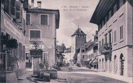 Morat, Rue De La Couronne, Hôtel De Ville Et Fontaine (596) - FR Fribourg