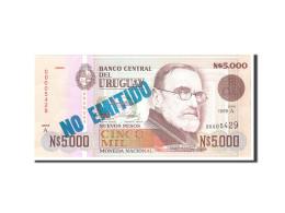 Uruguay, 5000 Nuevos Pesos, 1989, KM:68a, Undated, NEUF - Uruguay