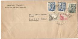 SPAGNA - ESPAÑA - Spain - Espagne - 1940 - Par Avion - 2 X 70 + 40 + 10 + 5 - Opened Passed By Censor - Censurado Cen... - 1931-50 Storia Postale