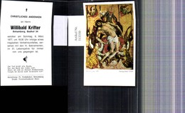 313330,Andachtsbild Heiligenbildchen Sterbebild Behamberg 1977 - Andachtsbilder