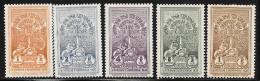 Ethiopia, Scott # 210-4 Mint Hinged Selassie Coronation Monument, 1930 - Ethiopia