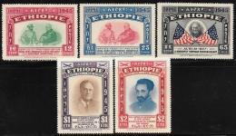 Ethiopia, Scott # 278-80.C21-2 MNH Selassie And Roosevelt, 1947 - Ethiopia