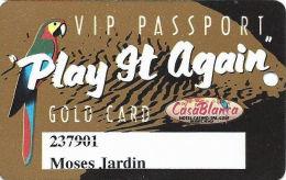 CasaBlanca Casino Mesquite NV Slot Card - Large CasaBlanca On Bottom Line Reverse - Casino Cards