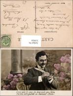 319924,Mann Schreiben Feder Postkarte Ansichtskarte Spruch Postwesen - Post & Briefboten