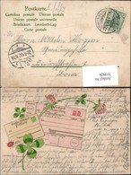 319926,Präge Litho Postkarte Deutsche Reichspost Klee Kleeblatt Postwesen - Post & Briefboten