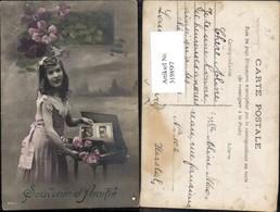 319897,Mädchen M. Ansichtskarten Album Blumen Souvenir D Amitie Postwesen Post - Post & Briefboten