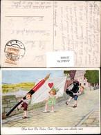 319908,Künstler Ak Kinder M. Feder Brief Kuvert Tintenfass Spruch Postwesen Post - Post & Briefboten