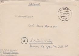 Feldpost WW2:  To A NCO In Stamm Kompanie/Grenadier Ersatz Bataillon 48 In Neystrelitz P/m Wolgast 8.5.1944 - Letter Ins - Militaria