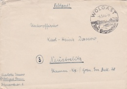 Feldpost WW2: To A NCO In Stamm Kompanie/Grenadier Ersatz Bataillon 48 P/m Wolgast 4.5.1944 - Letter Inside  (G53-68) - Militaria