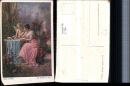 317661,Künstler AK Hans Zatzka Ein Brieflein An Ihn Amor Engel Frau B. Schrieben Klei - Zatzka