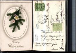 323257,Präge Künstler AK Weihnachten Tannenzweig Schneerosen - Natale