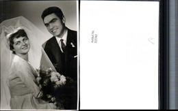 323342,Fotokarte Hochzeit Hochzeitsfoto Brautpaar Schleier Brautstrauß - Hochzeiten