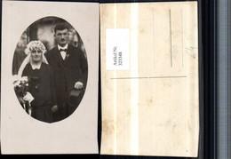 323348,Foto AK Hochzeit Hochzeitsfoto Brautpaar Schleier Hut - Hochzeiten