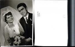 323341,Fotokarte Hochzeit Hochzeitsfoto Brautpaar Schleier Kette - Hochzeiten