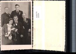 323356,Foto AK Hochzeit Hochzeitsfoto Gruppenbild Brautstrauß Pub Ludwig Felix Bruck - Hochzeiten