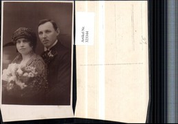 323344,Foto AK Hochzeit Hochzeitsfoto Brautpaar Brautstrauß Pub J. Weitzmann Wien - Hochzeiten