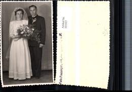 323357,Foto AK Hochzeit Hochzeitsfoto Brautpaar Brautkleid Brautstrauß Pub Foto Freis - Hochzeiten