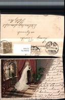 323369,Künstler Litho Fr. Rösler Hochzeit Brautpaar Schleier - Hochzeiten